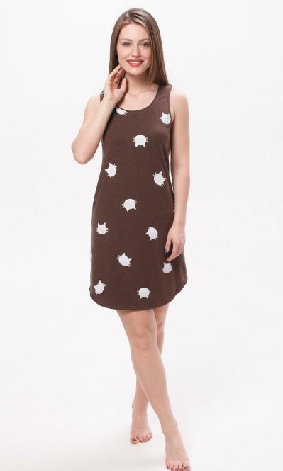 4f108006021 Купить Платье-майка.коричневый-кошки от компании Balik