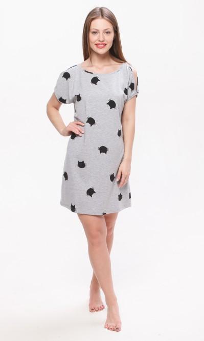 b9900ff4496 Купить Платье.Серый -Кошки от компании Balik